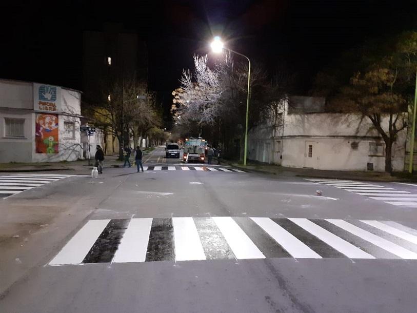 Pintado de sendas peatonales