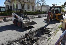 Trabajos en calle Rodriguez